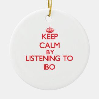 Guarde la calma escuchando el IBO Adornos De Navidad