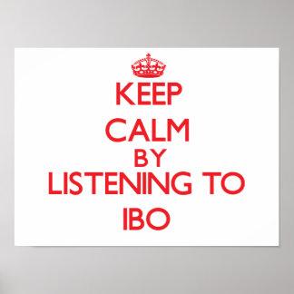Guarde la calma escuchando el IBO Poster