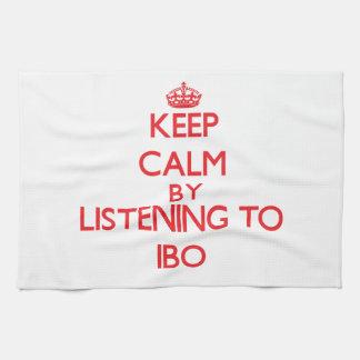 Guarde la calma escuchando el IBO Toallas
