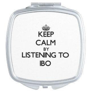 Guarde la calma escuchando el IBO Espejos De Maquillaje