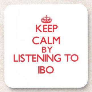 Guarde la calma escuchando el IBO Posavasos De Bebidas