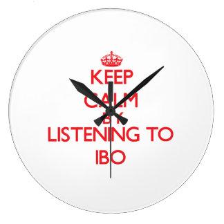 Guarde la calma escuchando el IBO Relojes De Pared