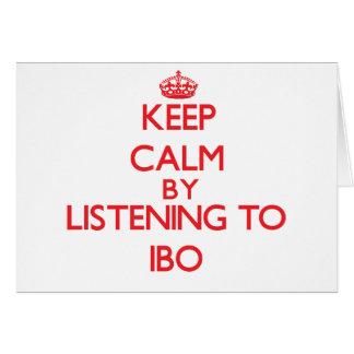 Guarde la calma escuchando el IBO Felicitacion
