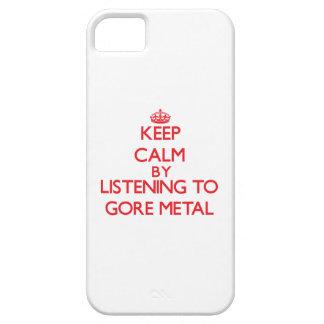 Guarde la calma escuchando el METAL de GORE iPhone 5 Carcasa