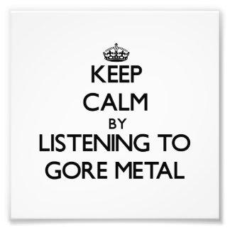 Guarde la calma escuchando el METAL de GORE Fotografía