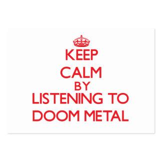 Guarde la calma escuchando el METAL de la Tarjetas De Visita Grandes