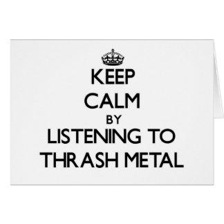 Guarde la calma escuchando el METAL del MOVIMIENTO Tarjetón