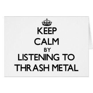 Guarde la calma escuchando el METAL del MOVIMIENTO Felicitaciones