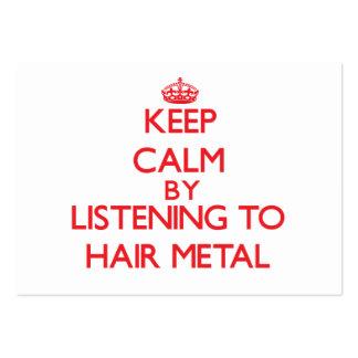 Guarde la calma escuchando el METAL del PELO Tarjeta Personal