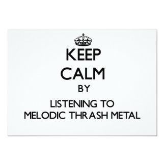 Guarde la calma escuchando el METAL MELÓDICO del Invitación 12,7 X 17,8 Cm
