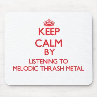 Guarde la calma escuchando el METAL MELÓDICO del M Tapetes De Ratones