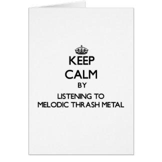 Guarde la calma escuchando el METAL MELÓDICO del M Tarjeton