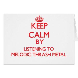 Guarde la calma escuchando el METAL MELÓDICO del M Tarjetas