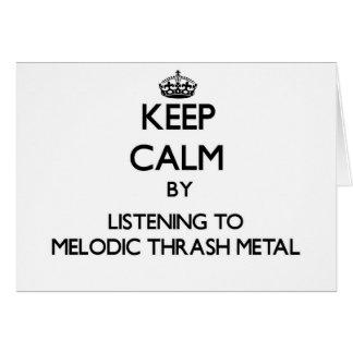 Guarde la calma escuchando el METAL MELÓDICO del M Tarjeta