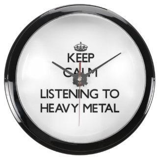 Guarde la calma escuchando el METAL PESADO Relojes Aquavista