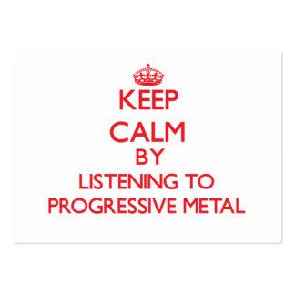 Guarde la calma escuchando el METAL PROGRESIVO Plantillas De Tarjetas De Visita