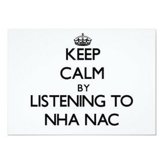 Guarde la calma escuchando el NAC de NHA Comunicado Personal