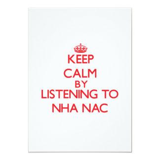 Guarde la calma escuchando el NAC de NHA Comunicado Personalizado