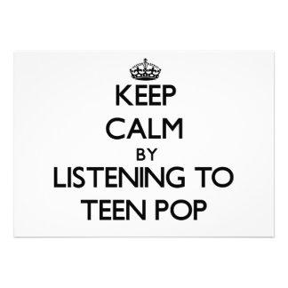 Guarde la calma escuchando el POP ADOLESCENTE Comunicados Personalizados