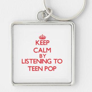 Guarde la calma escuchando el POP ADOLESCENTE Llaveros
