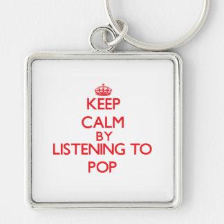 Guarde la calma escuchando el POP Llaveros Personalizados
