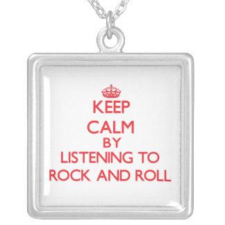 Guarde la calma escuchando el ROCK-AND-ROLL Collares Personalizados