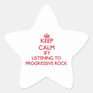 Guarde la calma escuchando el ROCK PROGRESIVO Colcomanias Forma De Estrellaes