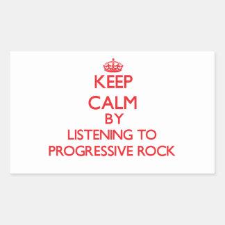 Guarde la calma escuchando el ROCK PROGRESIVO Rectangular Altavoces