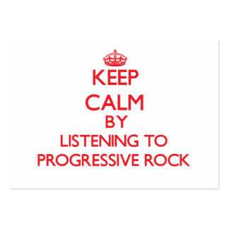 Guarde la calma escuchando el ROCK PROGRESIVO Tarjetas De Visita