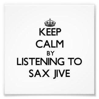 Guarde la calma escuchando el SAXOFÓN JIVE