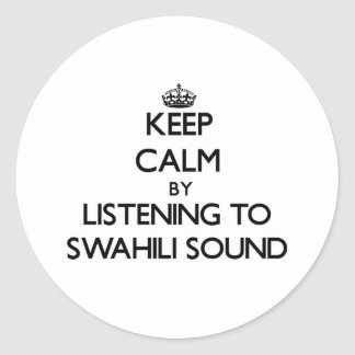 Guarde la calma escuchando el SONIDO del SUAJILI Etiqueta Redonda