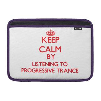 Guarde la calma escuchando el TRANCE PROGRESIVO Fundas Macbook Air