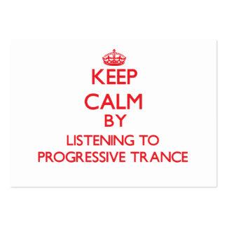 Guarde la calma escuchando el TRANCE PROGRESIVO Tarjeta De Negocio