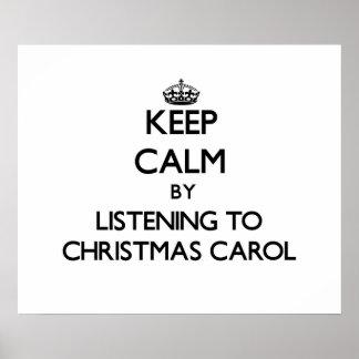 Guarde la calma escuchando el VILLANCICO del NAVID Posters