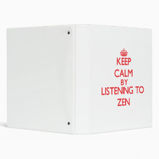 Guarde la calma escuchando el ZEN