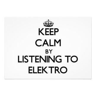 Guarde la calma escuchando ELEKTRO Comunicado Personal