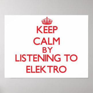 Guarde la calma escuchando ELEKTRO Poster