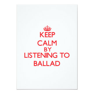 Guarde la calma escuchando la BALADA Comunicado
