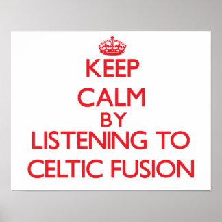 Guarde la calma escuchando la FUSIÓN CÉLTICA Posters