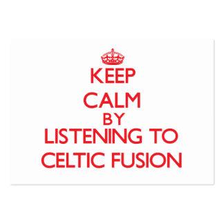 Guarde la calma escuchando la FUSIÓN CÉLTICA Plantilla De Tarjeta Personal