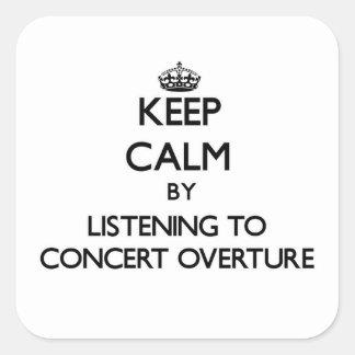 Guarde la calma escuchando la INSINUACIÓN del Calcomanías Cuadradas