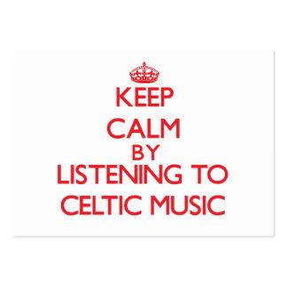 Guarde la calma escuchando la MÚSICA CÉLTICA Tarjetas Personales