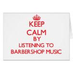 Guarde la calma escuchando la MÚSICA de la BARBERÍ Tarjeton