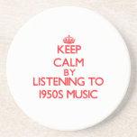 Guarde la calma escuchando la MÚSICA de los años 5 Posavaso Para Bebida