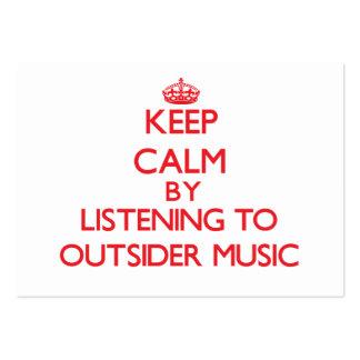 Guarde la calma escuchando la MÚSICA del FORASTERO Tarjetas De Visita Grandes