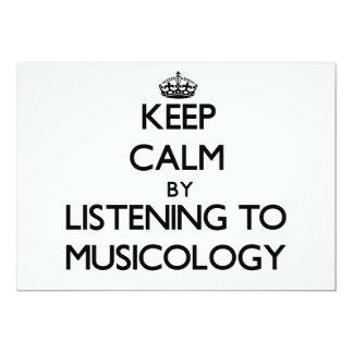 Guarde la calma escuchando la MUSICOLOGÍA Comunicado Personalizado
