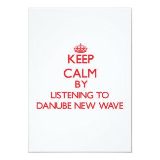 Guarde la calma escuchando la NUEVA OLA de DANUBIO Invitación Personalizada