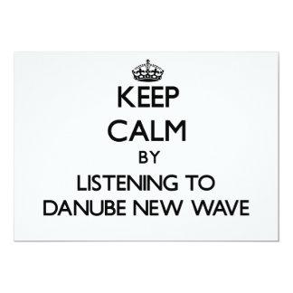 Guarde la calma escuchando la NUEVA OLA de DANUBIO Invitacion Personalizada