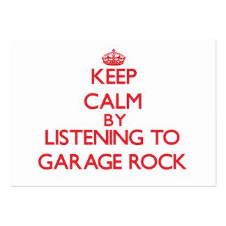 Guarde la calma escuchando la ROCA del GARAJE Tarjetas De Visita