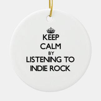 Guarde la calma escuchando la ROCA del INDIE Adorno De Reyes